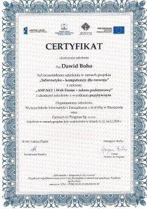 Certfikat  ASP.NET i Web Forms