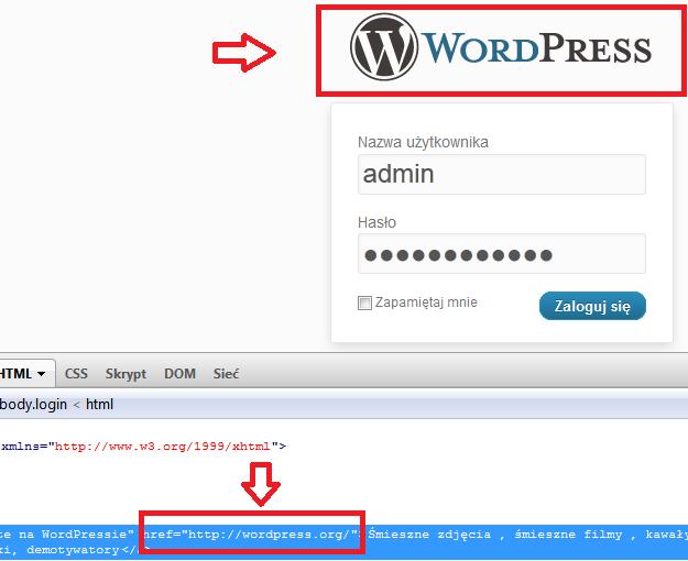 Jak usunąć link i logo wordpress.org z wp-login i wp-register?