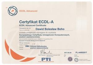 Certyfikat ECDL - AM4: Arkusze kalkulacyjne, poziom zaawansowany.