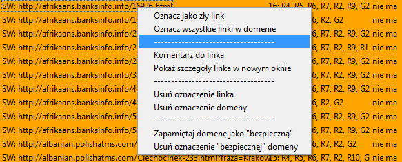 Oznaczanie linków WWW
