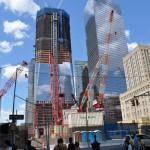 World Trade Center podczas budowy. Bardzo fajnie się zapowiada.