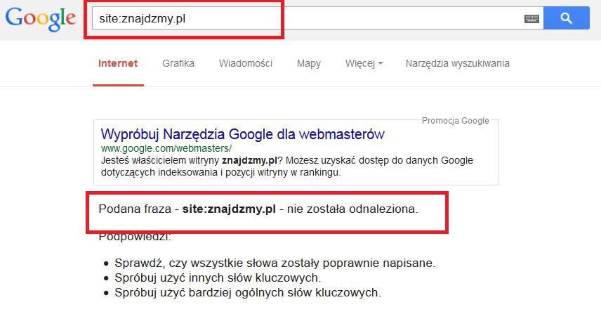 Dodaj stronę do wyszukiwarki